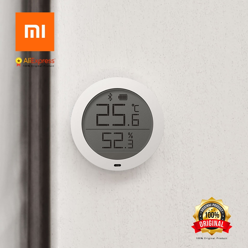 US $11 79 30% OFF|Xiaomi Original Mi Bluetooth Hygrometer High Sensitivity  of the Sensor LCD Screen Magnetic Wall Stickers-in Smart Remote Control