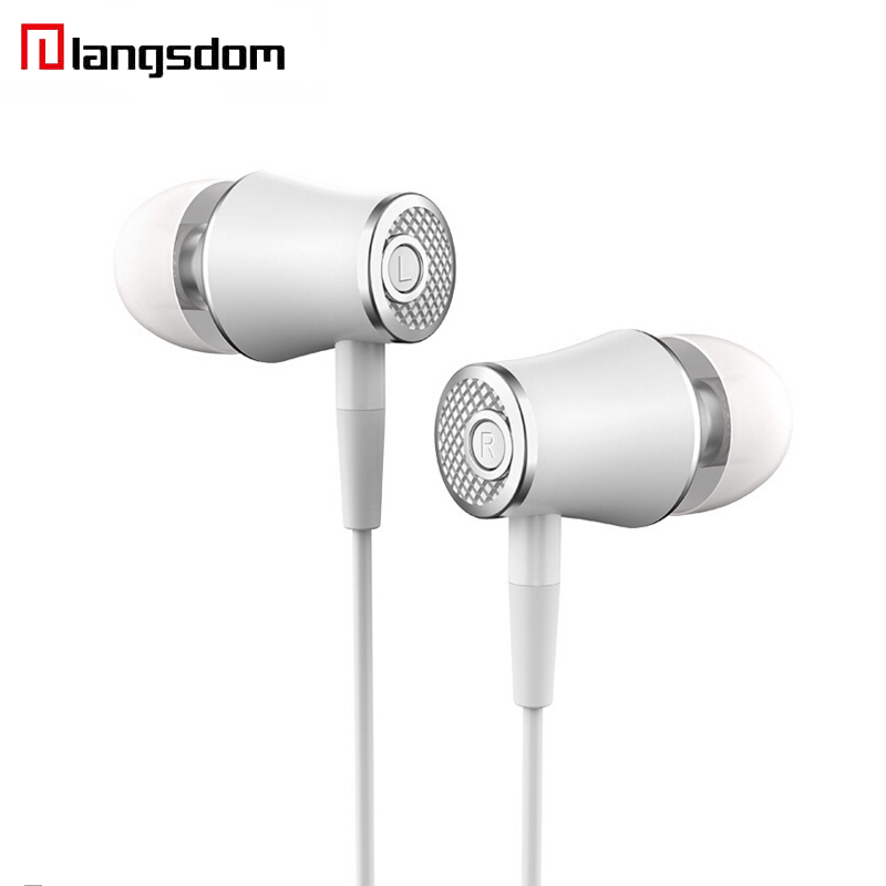 Langsdom R21 Stereo Earphones with Microphone Metal Super Bass in ear earphone headset earbuds for mobile phone original langsdom sp80a stereo earphones with microphone super bass 3 5mm in ear earphone for iphone xiaomi mobile phone mp3 mp4