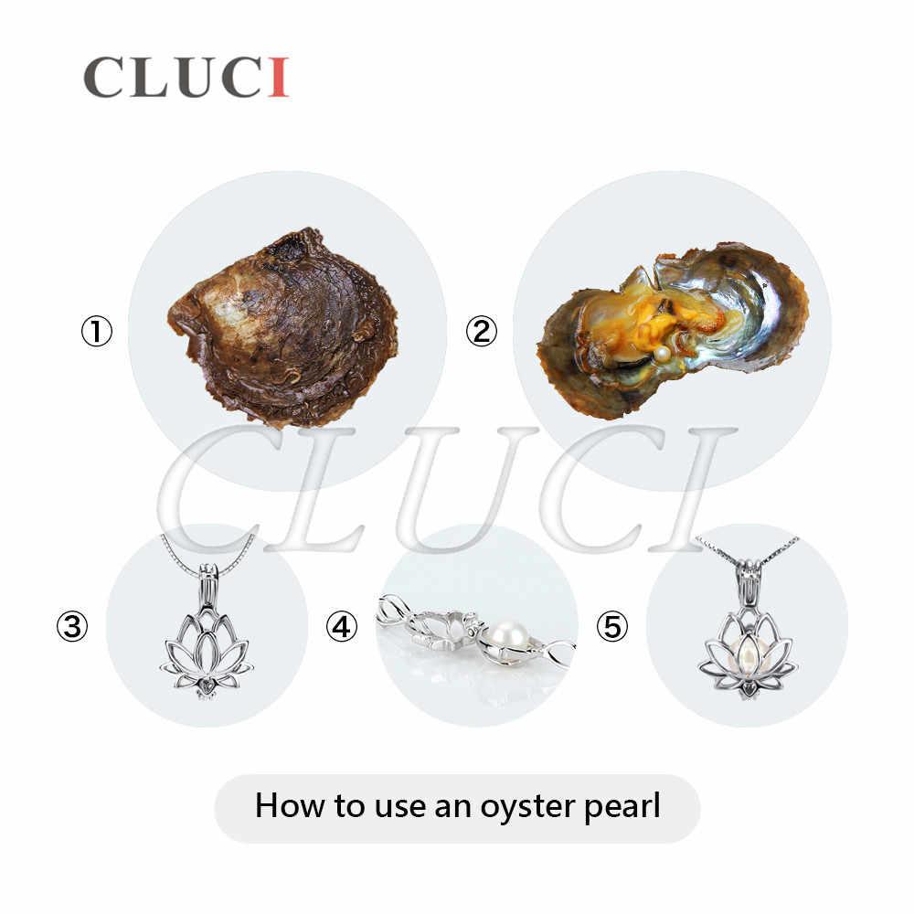 CLUCI Oysters с жемчугом Wish круглые 4 шт одиночные Упакованные 6-7 мм подлинные Akoya жемчуг Ассорти цветные бусины Круглые Akoya жемчуг