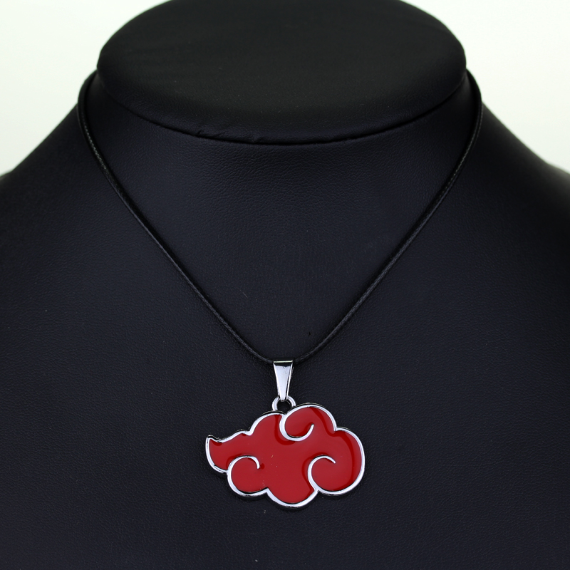 dongsheng DC Comics Cartoon Naruto Akatsuki Red Cloud Logo Necklaces itachi uchiha Metal Necklaces For Fans Gift -30