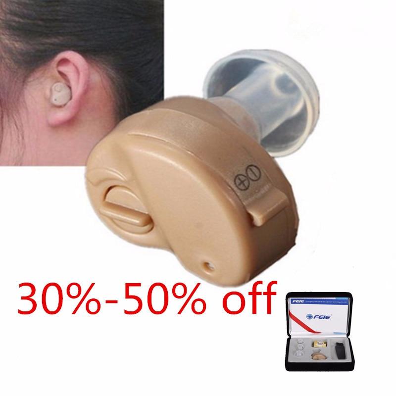 Cheap Hearing Aid Deaf Headphone Headset Ear-Aid Ajutable Lound Voice Amplifier S-212 Mini Invisible Ear Machine Free Shipping
