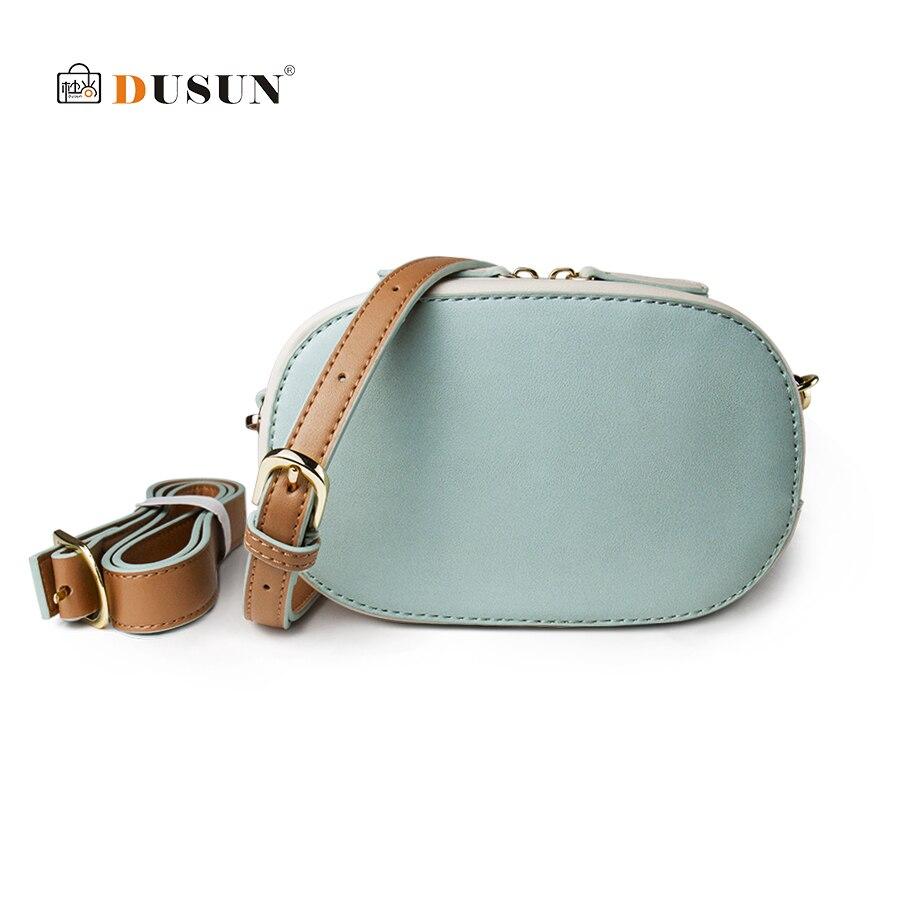 b09f944ee4cb DUSUN поясная сумка женская сумка зеленого качества искусственная кожа  панелями Bolsa Feminina плечо нагрудная сумка кошелек мини-сумки