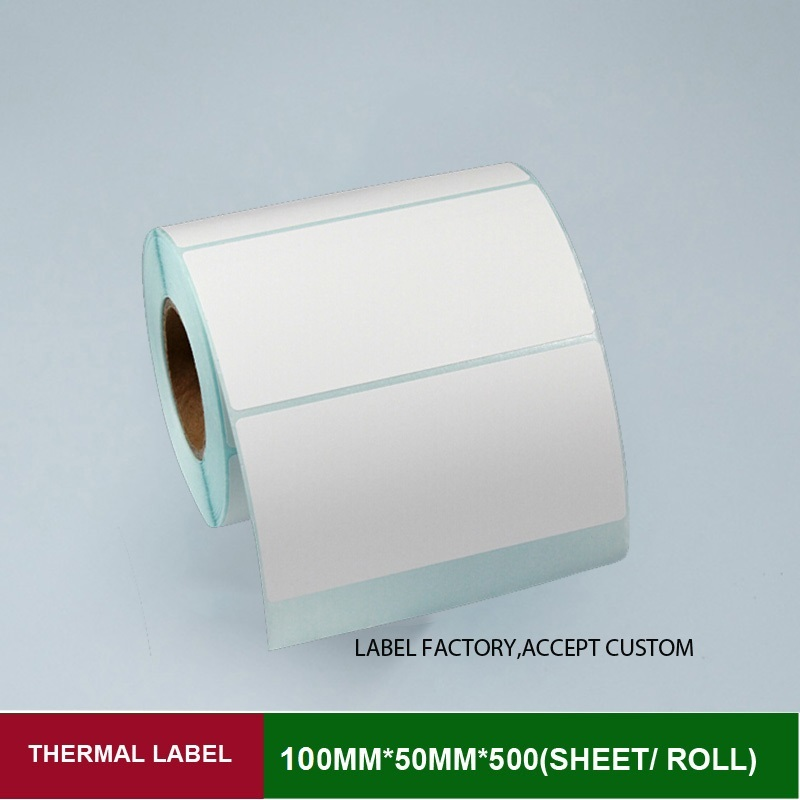 Self adhesive sticker label 100*50mm 500pcs per roll thermal barcode label can customized logo blank shipping label white paper рекламный щит dz 5 1 j1d 081 jndx 1 s d