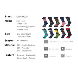 Image 2 - 10pairs/lot Brand Quality Mens Happy Socks Combed Cotton colorful Funny cartoon Socks fashion long male compression Casual sock