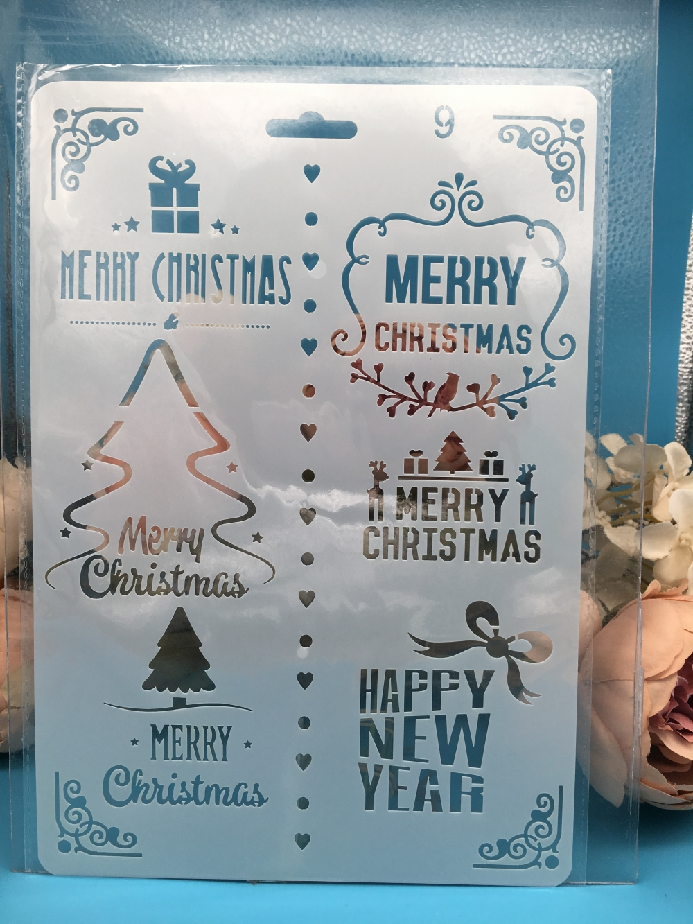 1Pcs A4 Tree Words Merry Christmas DIY Craft Layering Stencils Wall Paint Scrapbook Stamp Embossing Album Decorative Template
