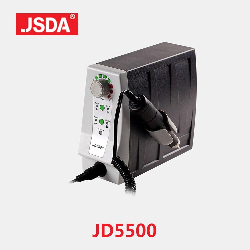 JSDA Real JD5500 85 W Elétrico Avançado Profissionais Brocas Do Prego Ferramenta Manicure Máquina Pedicure Unhas Equipamentos Art 35000 rpm