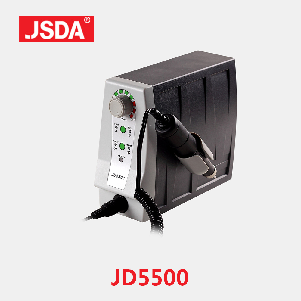 Real JSDA JD5500 85W Elektrisk Avanceret Negleboremaskiner Professionelle Pedicure Værktøj Manicure Machine Nails Art Equipment 35000rpm