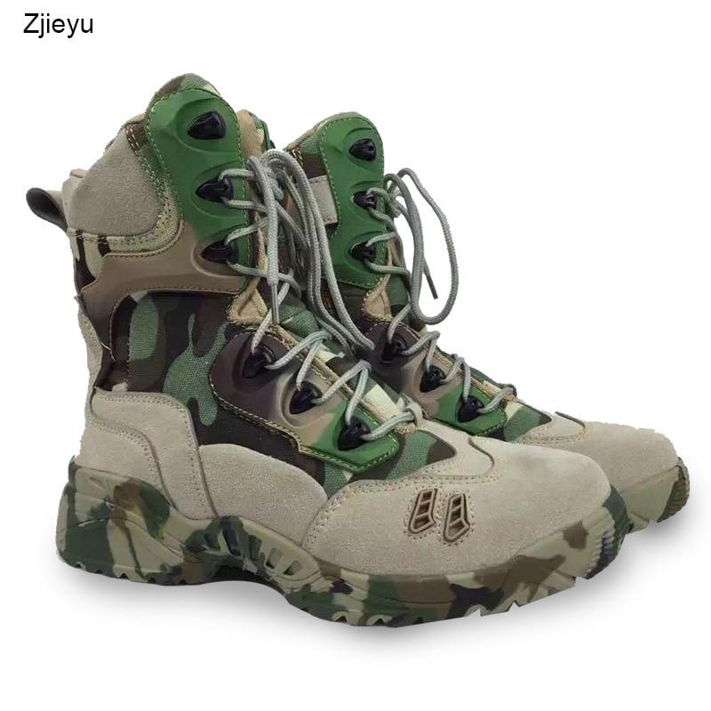 купить 2017 new Men Military Tactical Boots men bot combat boots Desert bots Hiking Camouflage High-top Boots asker bot онлайн
