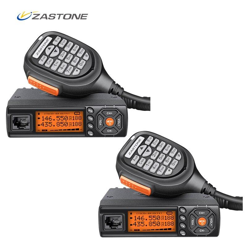 2 stücke Zastone Z218 10 km Radio Mobile Walkie Talkie 25 watt Dual Band VHF/UHF 136-174 mhz 400-470 mhz Auto Radio Communicator Transceiver