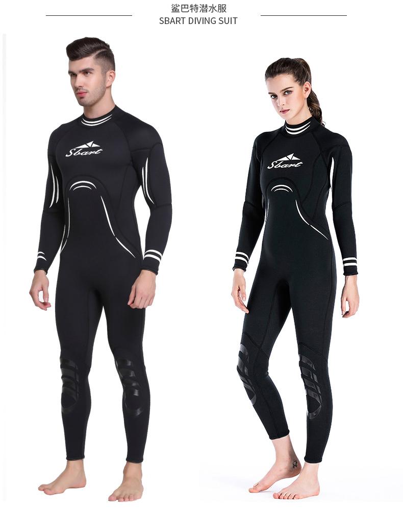 67b90a6f41 SBART 3MM Neoprene Scuba Diving Suit Surfing Women s Wetsuit Men Warm Full  Body Spearfishing Wet Suit For Underwater Hunting L