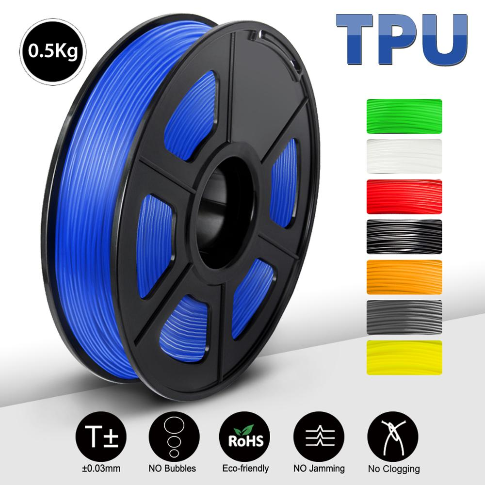 SUNLU 3d printer filament new free ship china Warehouse price 0 5KG red TPU thread for