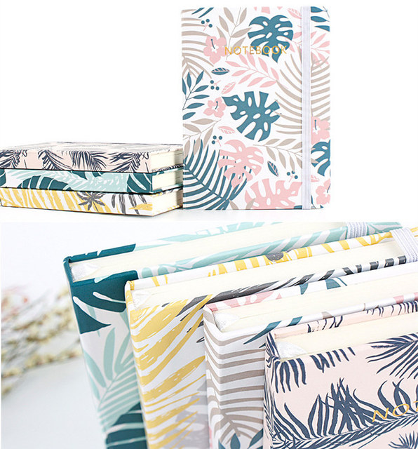 Palm leaves printed notebook (hard cover)