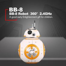 BB-8 2.4GHz Intelligent Early Education RC Robot Ball Remote Control Planet Boy with Sound Star Wars Toy for Kids(China)