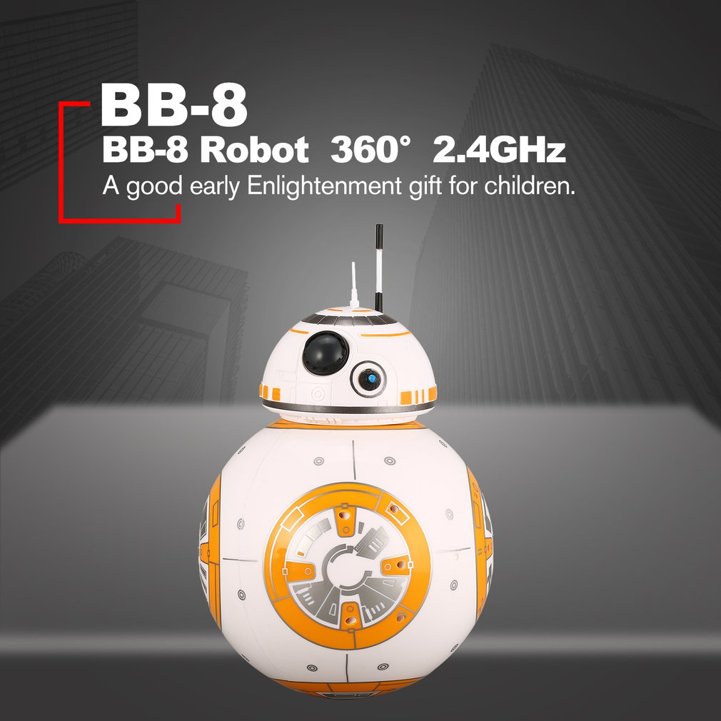 BB-8 2.4GHz Intelligent Early Education RC Robot Ball Remote Control Planet Boy with Sound Star Wars Toy for Kids