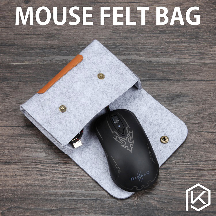 soft felt keyboard carrying case bag for mouse in keyboards from computer office on. Black Bedroom Furniture Sets. Home Design Ideas