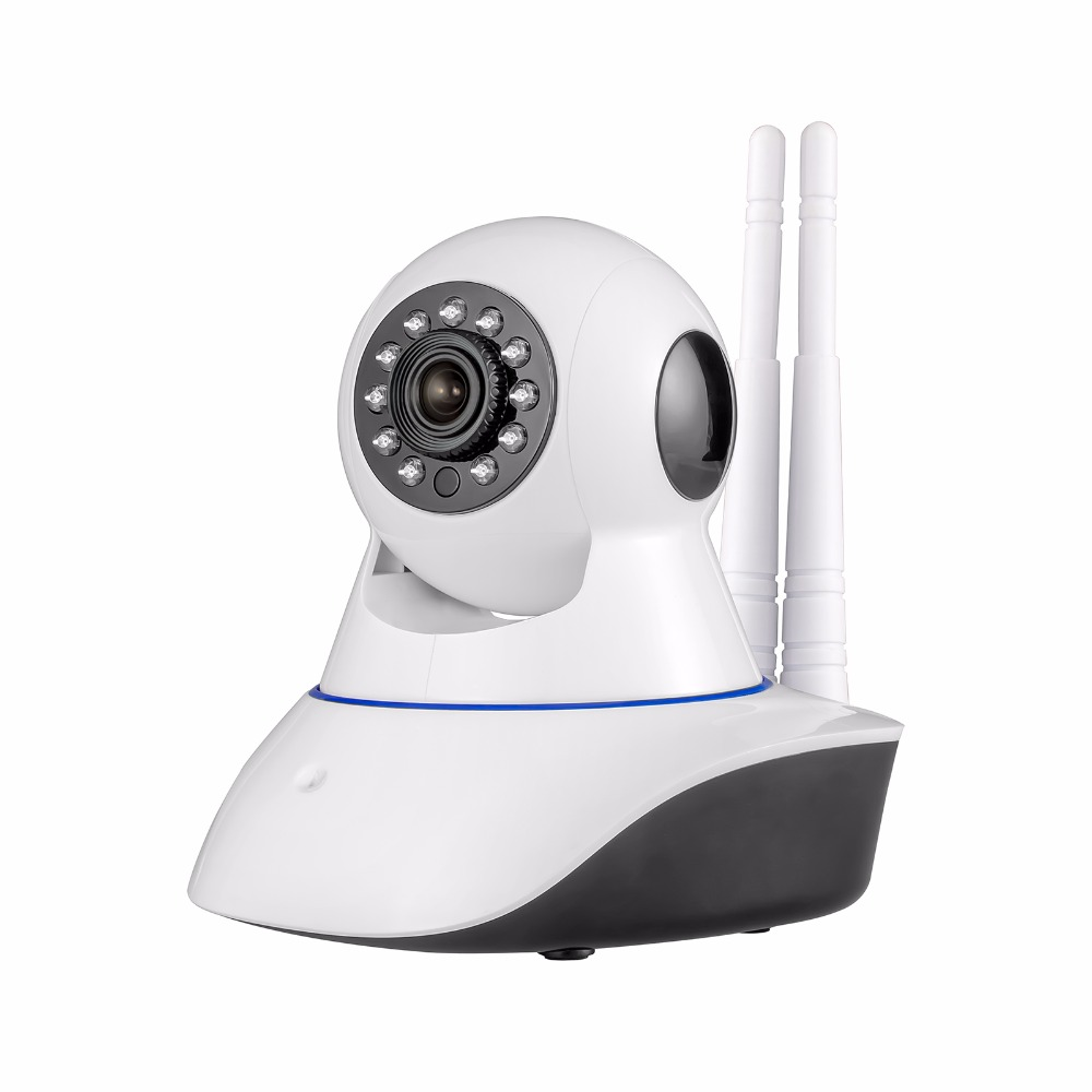 2017 New Double Antenna Camera wireless IP camera WIFI Megapixel 720p HD indoor Wireless Digital Security