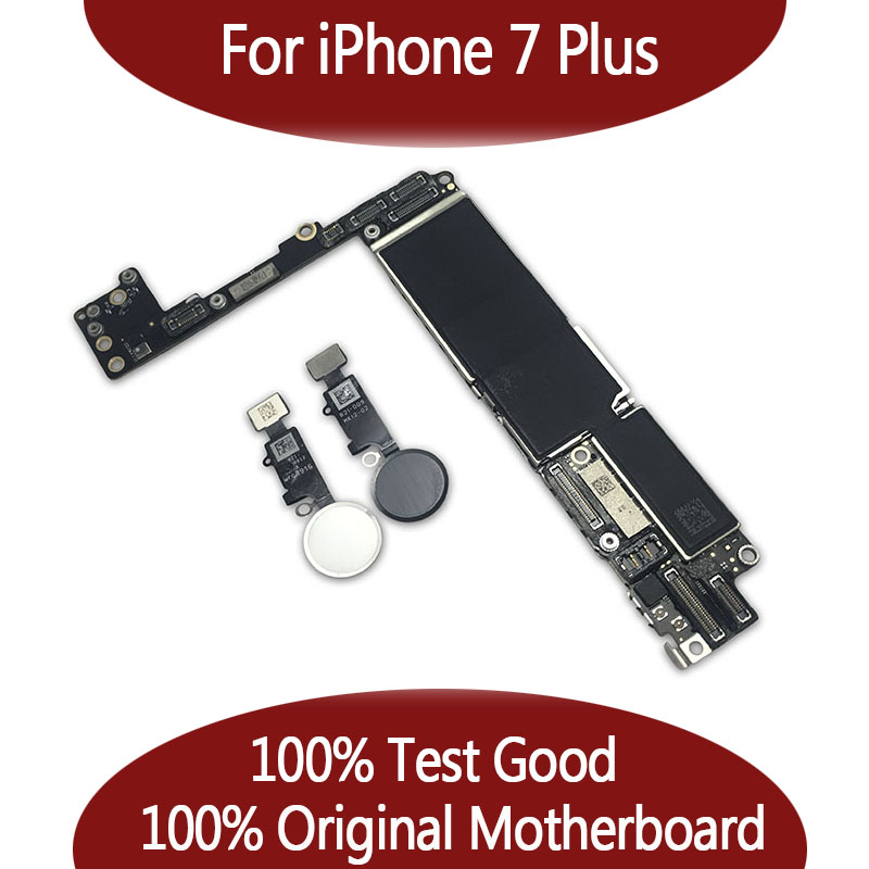 100 Original unlocked for Phone 7 plus Motherboard without Touch ID for iPhone 7P Mainboard with