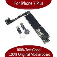 100% Original débloqué pour téléphone 7 plus carte mère sans identification tactile, pour iPhone 7P carte mère avec puces, 32gb / 128gb / 256gb