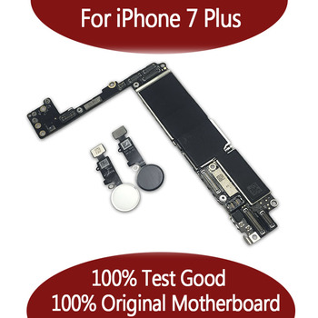100 oryginalny odblokowany dla telefonu 7 plus płyta główna bez Touch ID dla iPhone 7P płyta główna z chipami 32gb 128gb 256gb tanie i dobre opinie GUOER