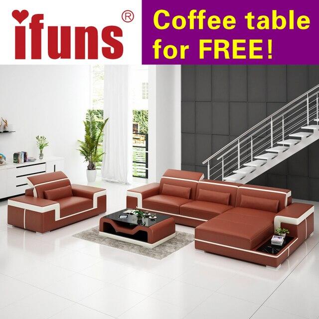 Modern European Leather Sofa Bed Luxury Furniture Brand