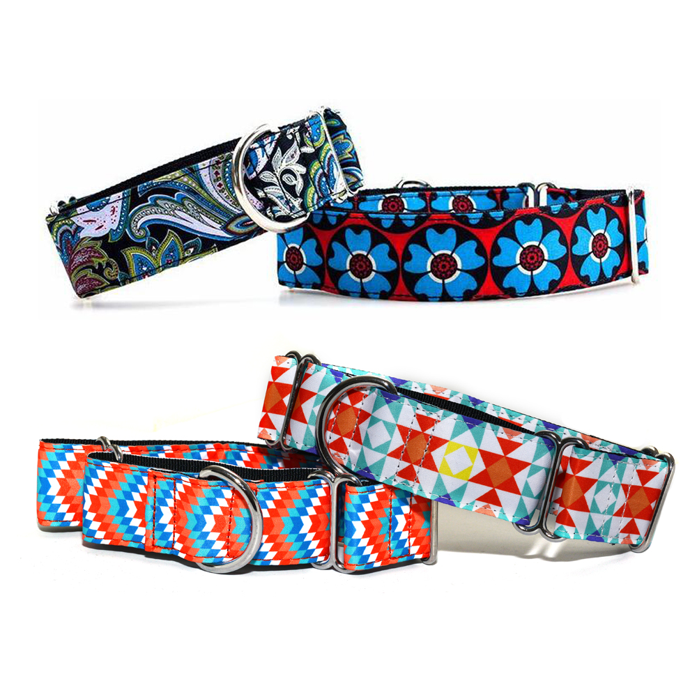 Pet Dog Collar Safety Martingale Dog Necklace Super Strong Durable Nylon Collars for Small Medium Large