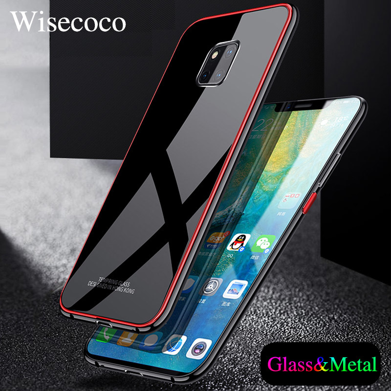 Metal Bumper Case For Huawei Mate 20 Pro Lite Luxury Plating Frame Hard Tempered Glass Mirror Cover Hawei Mate20 Pro Phone Cases