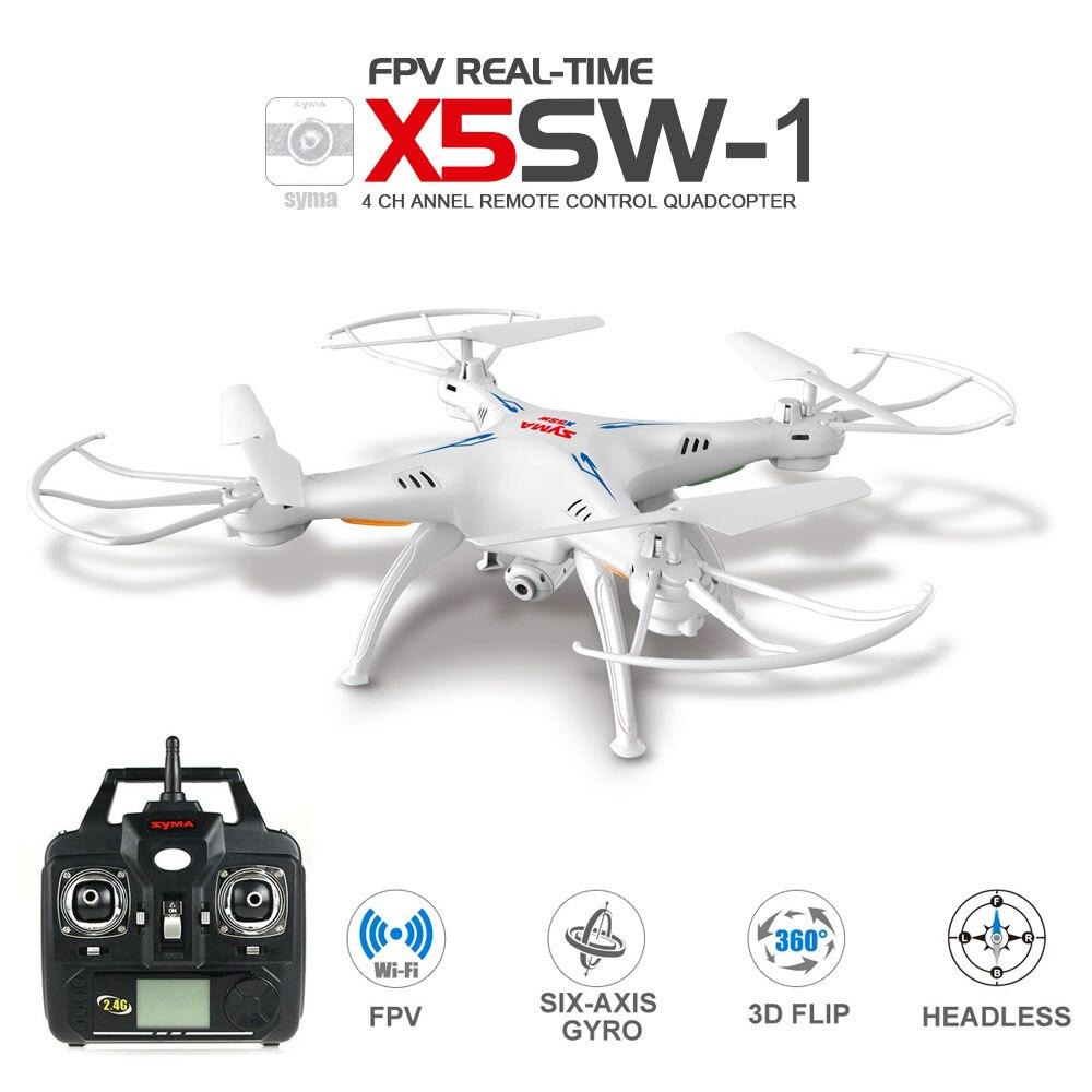 SYMA X5SW/X5SW-1 WI-FI Drone с FPV Камера Безголовый горючего 6 оси в режиме реального времени Mini Дрон лучший подарок для детей вертолет