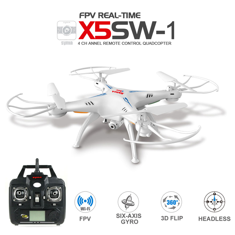 SYMA X5SW / X5SW 1 WIFI Drone With FPV Camera Headless Quadcopter 6 Axis Real Time Mini Dron Best Gift for Kids RC Helicopter