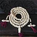 8mm Tibetan Buddhism 108 Bone Prayer Bead Mala with Counter Necklace