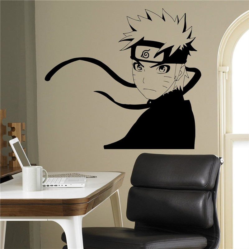 Naruto uzumaki serious face sticker for Chambre style manga