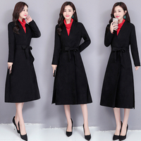 Plus Size 5xl Velvet Women Trench Coat Belt Windbreaker Casacos Femininos Casaco Feminina Vintage Trench Coats Raincoat
