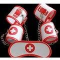Bdsm sexo Juguetes de Cuero Gafas de Enfermera Enfermera Traje Rojo Envío gratis Juguetes Sexuales Puños de la Mano Para Las Mujeres Juguetes Adultos Del Sexo partido