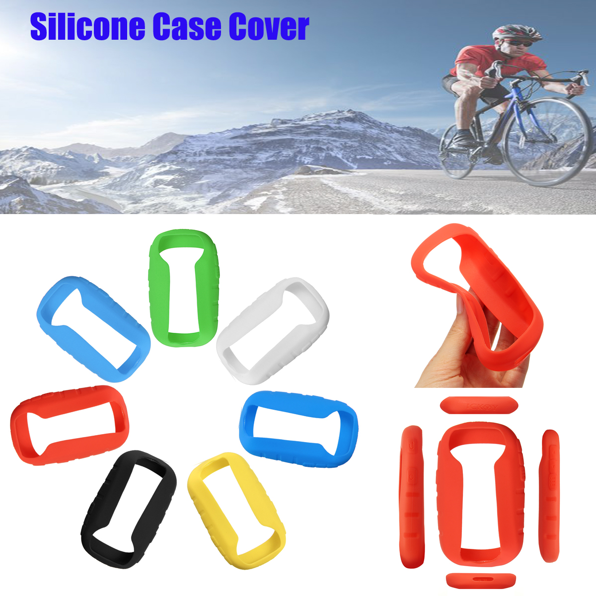 Silicone Protect Case Cover Protector for <font><b>Garmin</b></font> eTrex 10 20 30 10x 20x 30x Outdoor Hiking <font><b>Handheld</b></font> <font><b>GPS</b></font> Navigator Accessories image