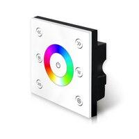새로운 rgbw 스트립 led 컨트롤러 벽 마운트 터치 스크린 touchable AC85V-265V p4x rgbw 2.4g 무선 및 dmx 마스터 컨트롤러