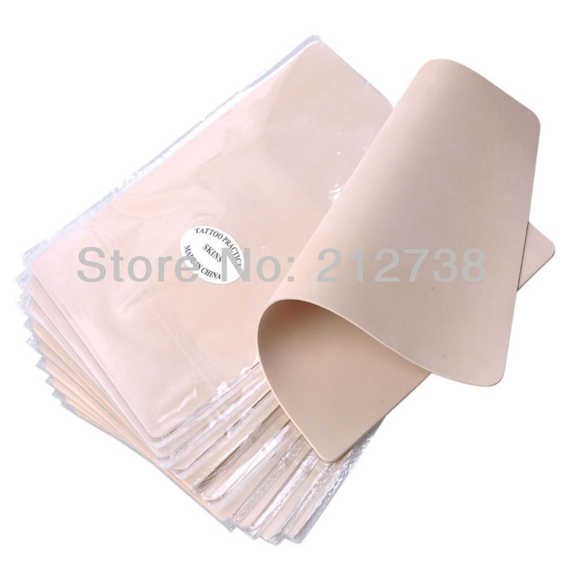 Pro Lot of 10PCS Blank Tattoo Practice Skin 8X6 15X20CM For Needle Machine Ink Free Shipping