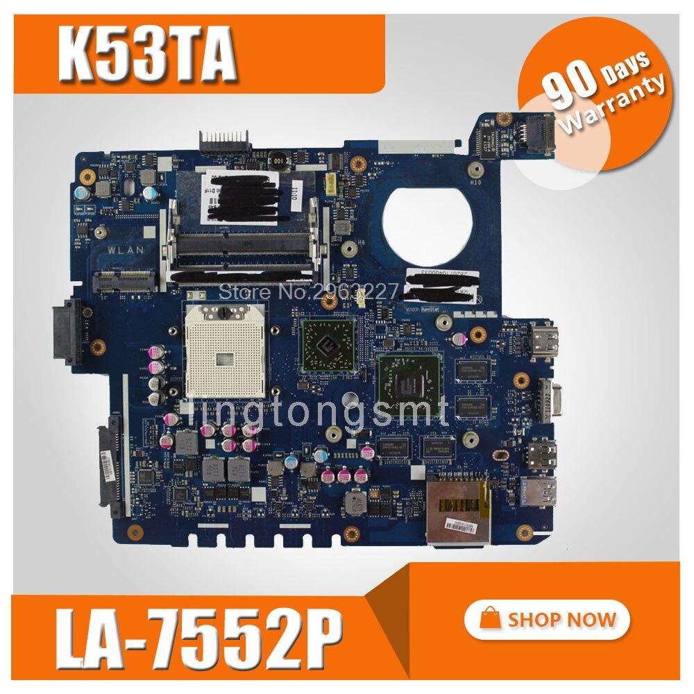 K53TA Carte Mère REV1.0 Pour ASUS X53T X53TA K53TA K53T QBL60 K53TK mère D'ordinateur Portable K53TA Carte Mère K53TA Carte Mère