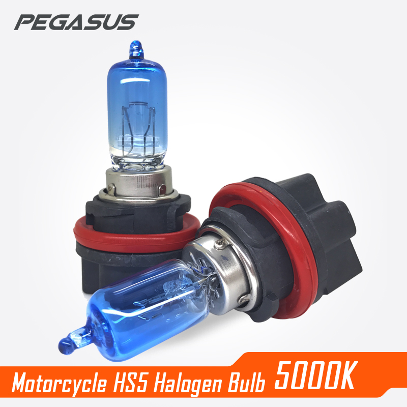 PEGASUS Motorcycle HS5 Halogen Light Bulb 12V Blue Painting White Emitting Stainless Steel Material 5000K Headlamp Bulb велосипед pegasus piazza gent 7 sp 28 2016