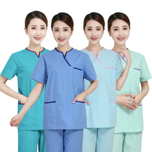 Hand-washing clothes short-sleeved doctors suit pure cotton surgical hand-washing white gown split for nurse