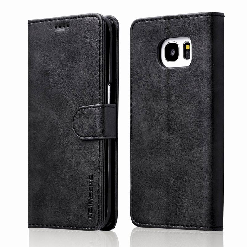 outlet store 82f63 7294f For Funda Samsung Galaxy S7 Edge Case Leather Flip Wallet Book Cover For  Hoesjes Samsung Galaxy S7 Case Samsung S7 Case
