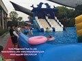 Детей и взрослых прекрасный дельфин море надувной бассейн слайд используется в аквапарк, (не включая бассейн)