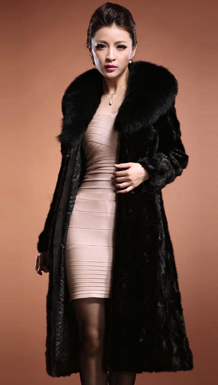 XXXL Winter Womens Outerwear Long Sleeve Maxi Faux Fur Coat Long ...