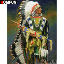 HOMFUN 5D DIY Diamond Painting Full Square/Round Drill Indian feather Embroidery Cross Stitch gift Home Decor Gift A09116 homfun 5d diy diamond painting full square round drill indian wolf embroidery cross stitch gift home decor gift a09279