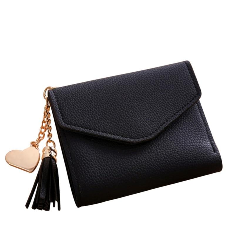 2019 Fashion Casual Card Clutch holder Women Simple Mini Wallet Coin Purse Holders Clutch Handbag With Tassel Shaped Pendant