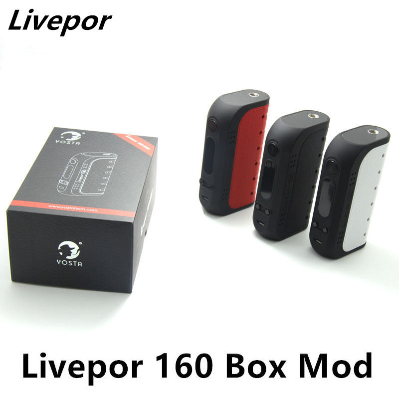 Authentic Yosta Livepor 160 TC VW Box Mod 160w with Dry Coil Protection VW/MECH/TC-Ni/TC-Ti/TC-SS/TCR Mode voopoo drag 157w tc box mod