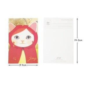 Image 5 - 80 pièces/lot mignon dessin animé chats cartes postales groupe cadeau carte ensemble Message carte Post histoire cadeau carte de voeux