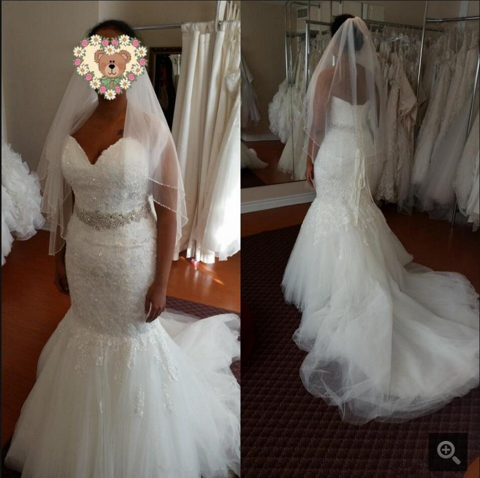 2016 New Design Mermaid White Real Picture Wedding Dress