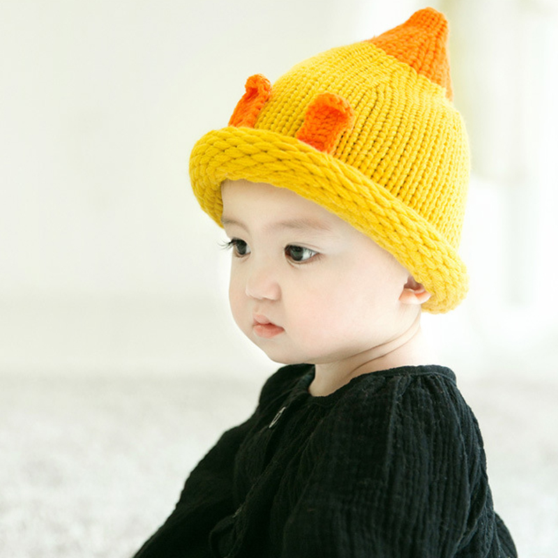 Christmas New Fashion Children Beanie Hats Winter Cap Warm Wool Cute Toddler Crochet Hat lovely Ears Hat Baby Hat For Girls/Boys super cute big five star cotton beanie hats skull cap for 1 4 years toddler infant baby winter children caps warm hat
