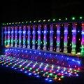 Гирлянда для занавесок  200 светодиодов  1 5x1 5 м  96 светодиодов  220 В  110 В