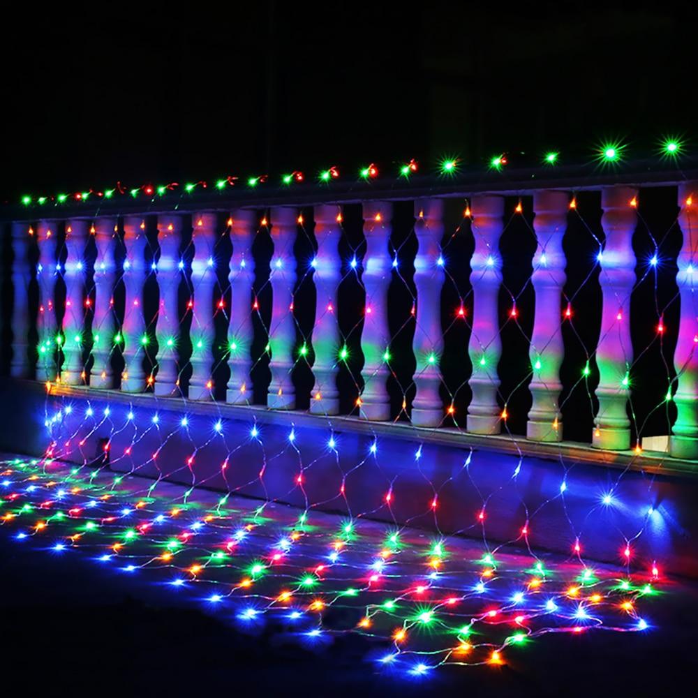 3M X 2M 200 LED Net Light Curtain Net String Light 1.5 X 1.5M 96LEDs Outdoor Home New Year Christmas Light Decoration 220V 110V