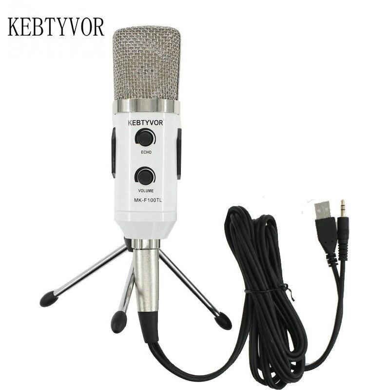 Mk f100tl Blau USB 2.0 Kondensator Tonaufnahme Audio Verarbeitung Wired Mikrofon mit Ständer für Radio Braodcasting KTV Karaoke